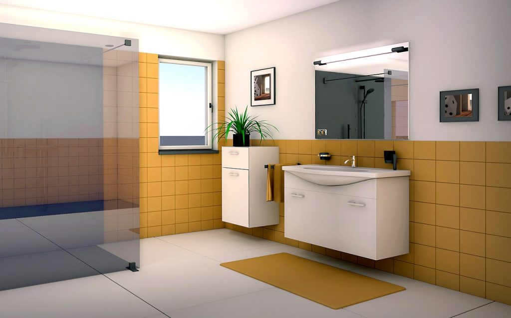 bath remodeling 3-d model